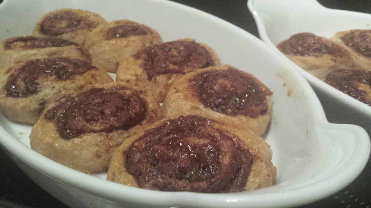 Light-Cooking: Cinnamon-Nutella Rolls aus Topfenteig (Quarkteig)