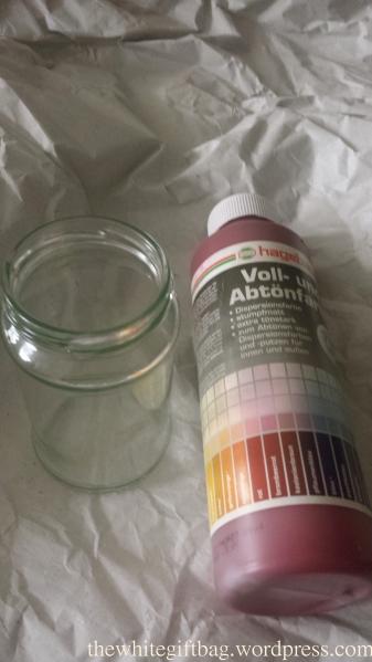 DIY glass jar decoration