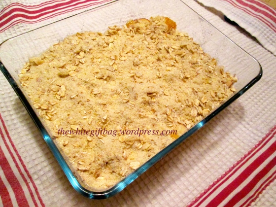 Apple Peach Crumble Crisp