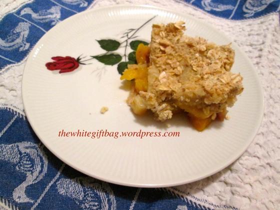 Apple Peach Crumble Crisp