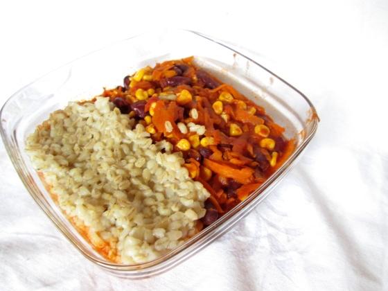 Vegetarisches Chili mit Rollgerste