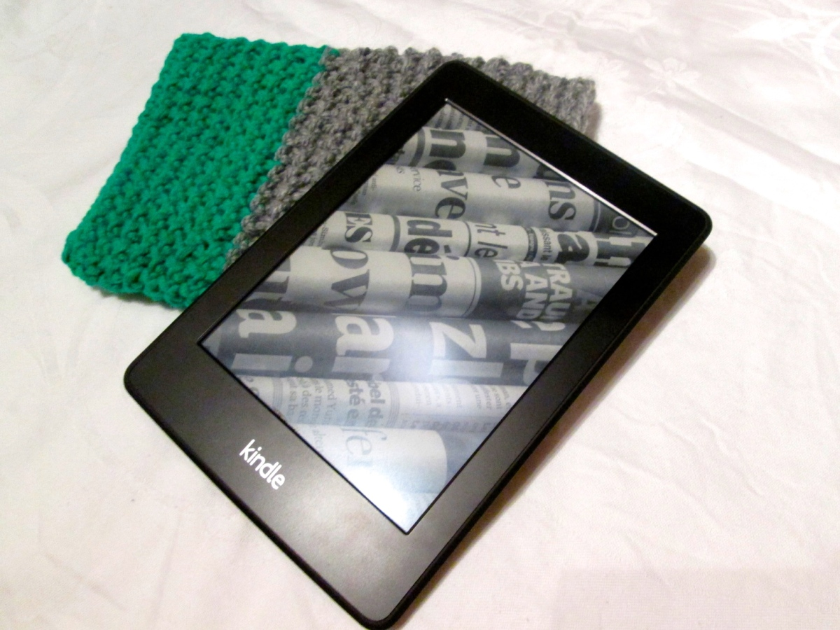 Häkel-Hülle für Ebook-Reader, Handy, Tablet...